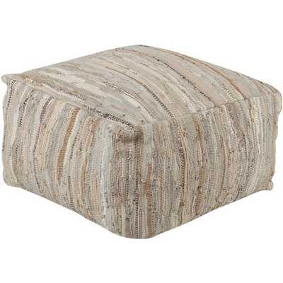 Anthracite 24 x 24 x 13 Pouf - Neva Home
