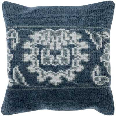 Buckfast Poly Euro Pillow, Blue - Home Depot