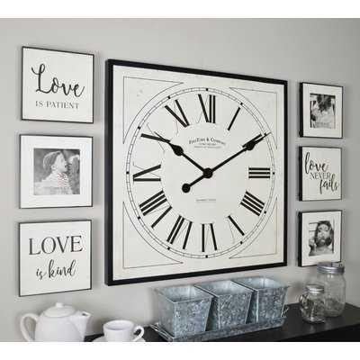 Dorcheer 7 Piece Frame Gallery Wall Clock Set - Wayfair