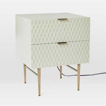 Audrey Charging Nightstand, Parchment - West Elm