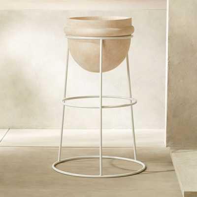 """Luna White Terracotta Planter 36.5"""" - CB2"""