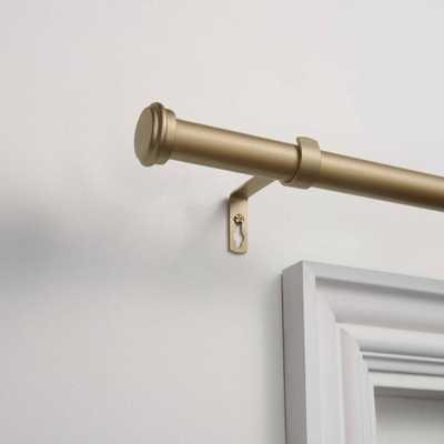 """36x72"""" Adjustable Topper 1"""" Curtain Rod and Coordinating Finial Set Gold - Exclusive Home - Target"""