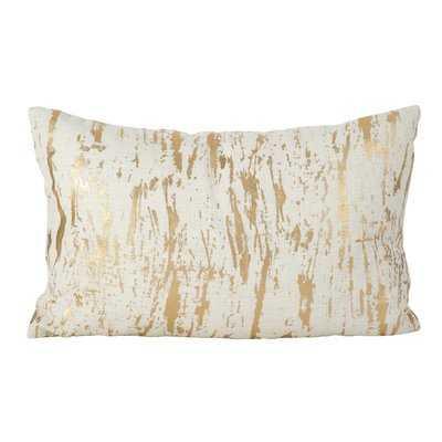 Aldgate Metallic Foil Print Cotton Lumbar Pillow - Wayfair