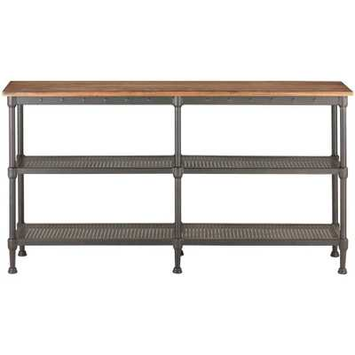 Gentry Distressed Oak Console Table - Home Depot