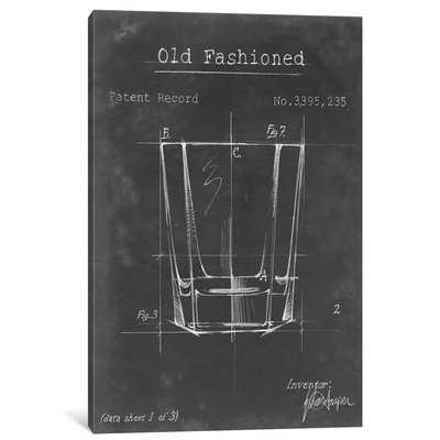 'Barware Blueprint I' Graphic Art Print on Canvas - Wayfair