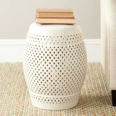 Safavieh Diamond Cream Patio Stool - Home Depot
