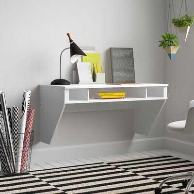 Dowlen 3 Shelf Floating Desk - Wayfair