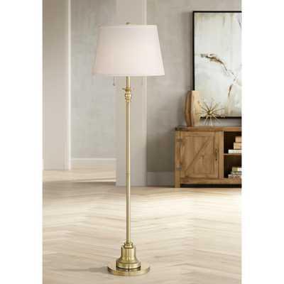 Spenser Brushed Antique Brass Floor Lamp - Style # 35E33 - Lamps Plus