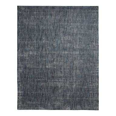 Marled Wool Rug, 8'x10', Navy - Pottery Barn Teen