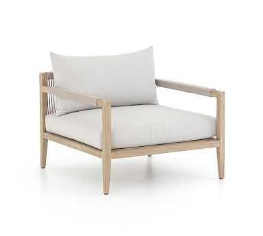 Punta Mita Teak Lounge Chair, Natural - Pottery Barn