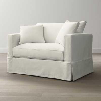 Willow Modern Slipcovered Twin Sleeper Sofa - Crate and Barrel