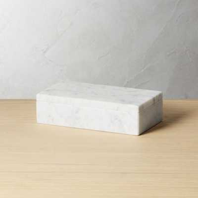 Small White Marble Box - CB2