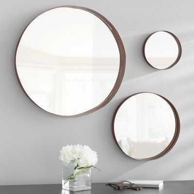 3 Piece Lianne Banded Accent Mirror Set - Wayfair