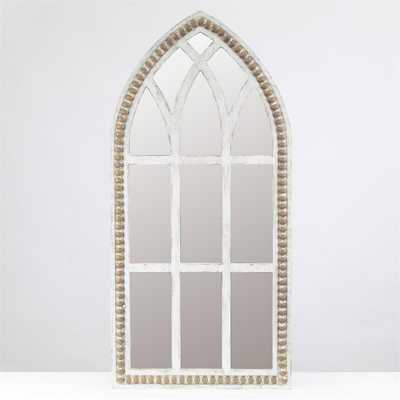 Luxen Home White Rustic Cathedral Wall Mirror - Home Depot