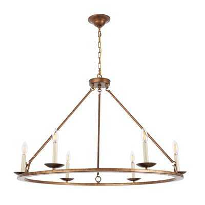 Tarantino 6-Light Wagon Wheel Chandelier - Wayfair