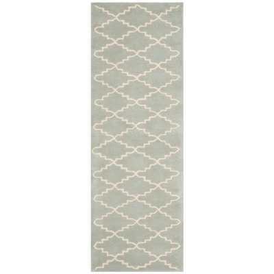 Chatham Grey/Ivory 2 ft. x 5 ft. Runner Rug, Light Blue/Ivory - Home Depot