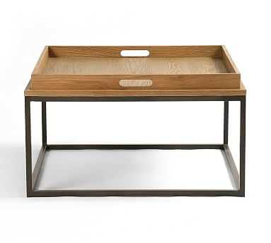 Crawford Coffee Table, Waxed Black - Pottery Barn
