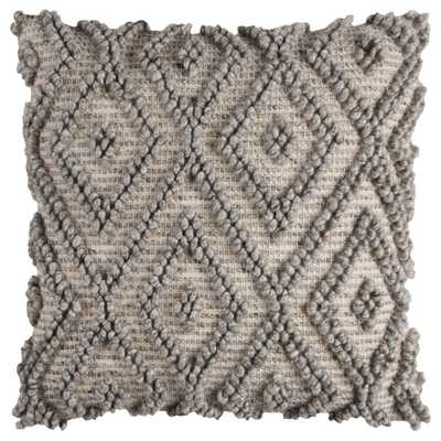 Natural And Grey Geometric Throw Pillow - Rizzy Home - Target
