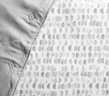 west elm x pbk Half Moon Fitted Crib Sheet, Platinum - Pottery Barn Kids