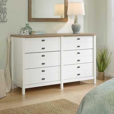 SAUDER Cottage Road 6-Drawer Soft White Dresser - Home Depot