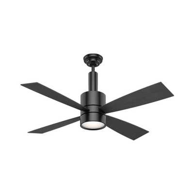 Casablanca Bullet 54 in. Indoor Matte Black Ceiling Fan with Light and Wall Control - Home Depot