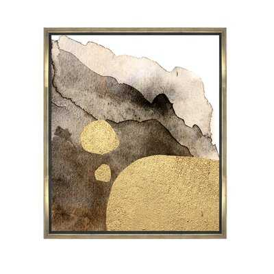 'Tintas de Oro' Abstract Wall Art in Brown - Wayfair