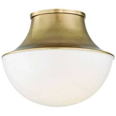 """Hudson Valley Lettie 10 3/4""""W Aged Brass LED Ceiling Light - Style # 24M98 - Lamps Plus"""