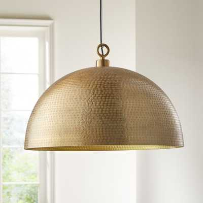 Rodan Hammered Brass Metal Dome Pendant Light - Crate and Barrel