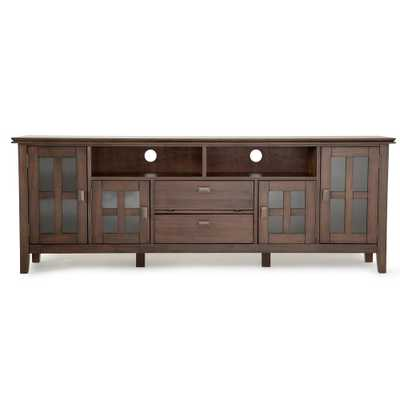 Artisan Natural Aged Brown 72 in. TV Media Stand - Home Depot