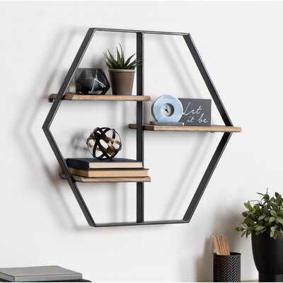 Fordbridge Hexagon Wood Wall Shelf - Birch Lane