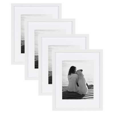 Gallery 11x14 matted to 8x10 White Picture Frame (Set of 4) - Home Depot