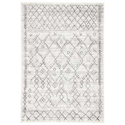 Jaipur Living Valen White 5 ft. 3 In. x 7 ft. 6 In. Trellis Rectangle Rug, White/Light Gray - Home Depot
