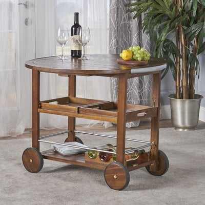 Porsha Wood Bar Cart - Birch Lane