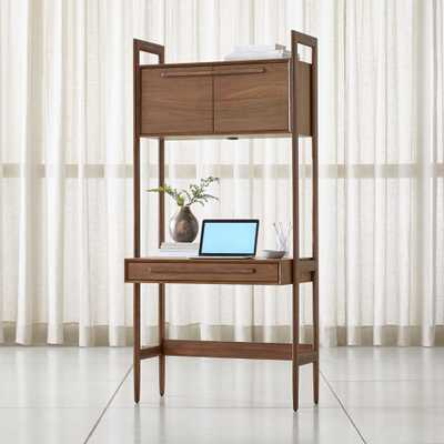 Tate Bookcase Desk with Power - Crate and Barrel