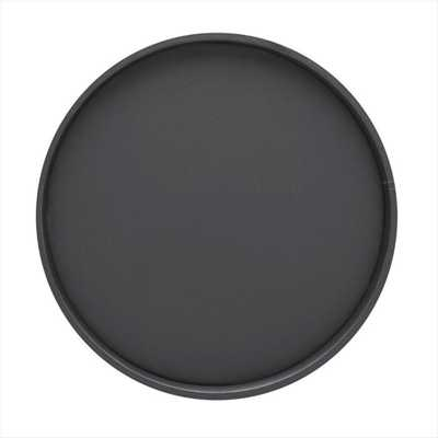 14 in. Round Serving Tray in Black - Home Depot