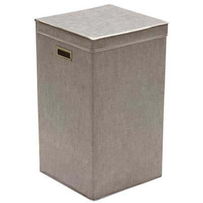 Collapsible Single Laundry Hamper, Gray - Home Depot