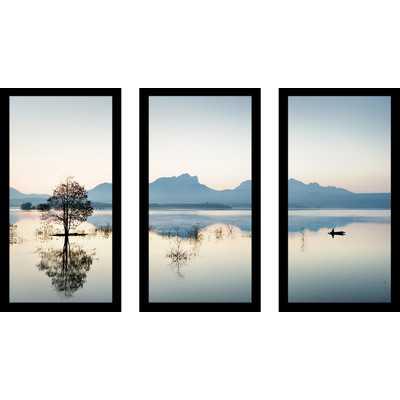 "Gone Fishin'"" 3 Piece Framed Photographic Print Set - Wayfair"