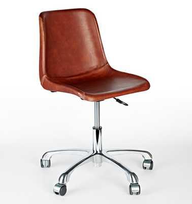 Bond Leather Desk Chair - Rejuvenation
