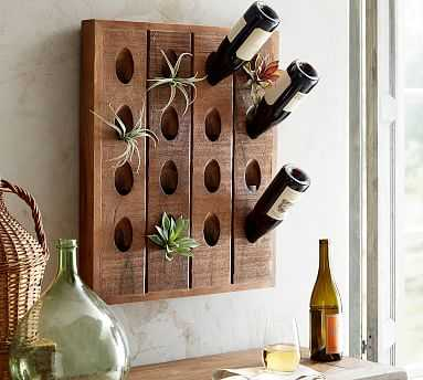 French Wine Bottle Wall Rack, Natural - Pottery Barn