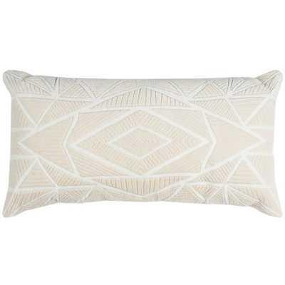 Bretagne Cotton Geometric Throw Pillow - AllModern