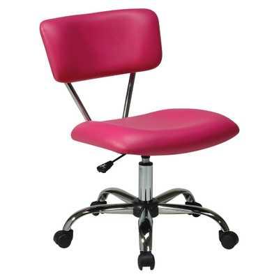 Vista Chrome and Vinyl Desk Chair Pink - Office Star - Target