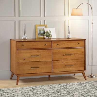 Camaflexi Mid-Century 6 Drawer Castanho Dresser - Home Depot