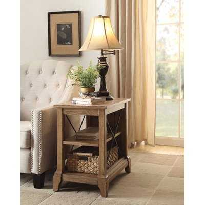 Hixon Wooden End Table with Storage - Wayfair