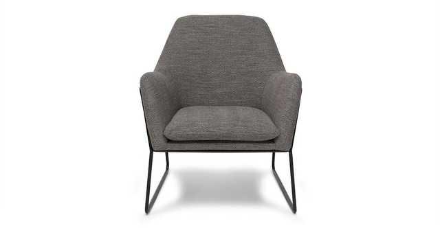 Forma Meteorite Gray Chair - Article