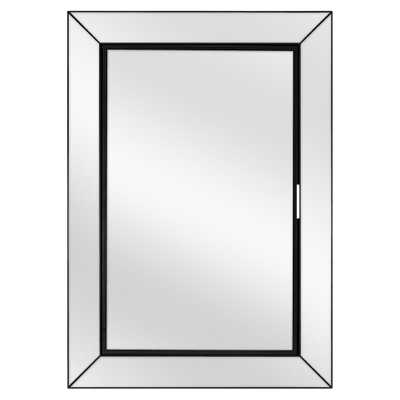 Home Decorators Collection 23-1/2 in. W x 33-1/2 in. H Fog Free Framed Recessed or Surface-Mount Mirror on Mirror Bath Medicine Cabinet in Black - Home Depot