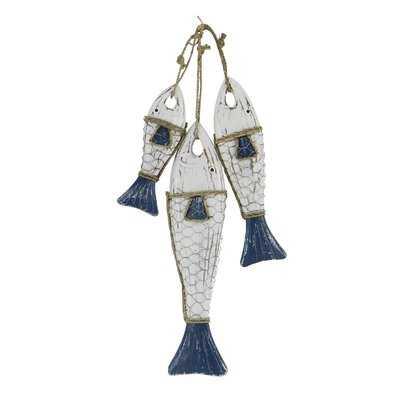 Altamont Coastal Hanging Fish Wood Figurine - Wayfair