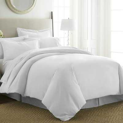 Performance White King 3-Piece Duvet Cover Set - Home Depot