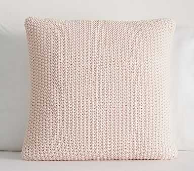 Pearce Chunky Knit Sham, Blush - Pottery Barn Kids
