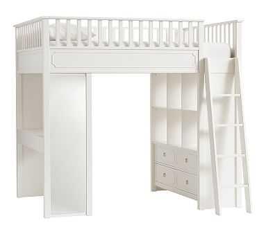 Ava Regency Loft Bed, Full, Simply White - Pottery Barn Kids