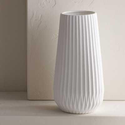 White Textured Table Vase - Birch Lane